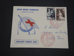 FRANCE - Enveloppe F.D.C.  Croix Rouge Du Havre En 1953  - A Voir - L 4919 - FDC