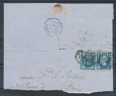 N°14 X2 Sur Lettre Pour Paris (Avril 62)