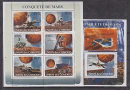 C13 Comoros - MNH - Space - 2008
