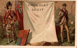 CHROMO CHOCOLAT LOUIT DRAPEAU ANGLETERRE - Louit