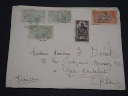 FRANCE / COTE D ' IVOIRE - Enveloppe De Abidjan Pour  Lyon En 1938 , Affranchissement Plaisant - A Voir - L 4924 - Côte-d'Ivoire (1892-1944)