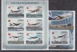 C13 Comoros - MNH - Transport - Airplanes - 2008