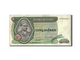 Zaïre, 5 Zaïres, 1977, KM:21b, 1977-11-24, TB - Zaïre