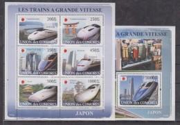 C13 Comoros - MNH - Transport - Trains - 2008