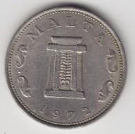 @Y@   Malta  5 Cents  1972  (3354 ) - Malte (Ordre De)