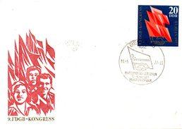 RDA. N°1895 De 1977 Sur Enveloppe 1er Jour. Syndicalisme.