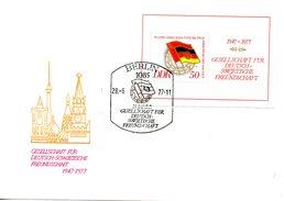 RDA. BF 42 De 1977 Sur Enveloppe 1er Jour. Amitié Avec L'URSS.