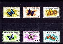 1972  TRINIDAD & TOBAGO   O/FINE CANCELLED - BUTTERFLIES  Yv 297/302   Mi 293/8 - Trinidad & Tobago (1962-...)