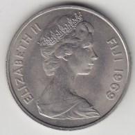@Y@    Fiji    20 Cents  1969   BU Coin    (3384 ) - Fiji