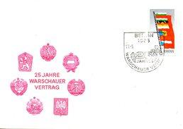 RDA. N°2168 De 1980 Sur Enveloppe 1er Jour. Drapeaux Des Etats Signataires Du Traité De Varsovie.