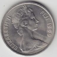 @Y@    Fiji    10 Cents  1969   BU Coin    (3385 ) - Fiji