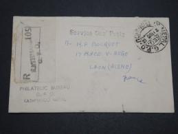 NEPAL - Enveloppe En Recommandé De Katmandou Pour La France En 1952 - A Voir - L 4935 - Népal