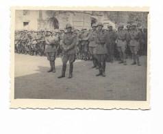 FOTO MILITARI ITALIANI MESSA AL CAMPO BAIDOA 1940 - CM. 8,5X6 - Guerra, Militari