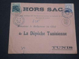 TUNISIE - Enveloppe Hors Sac Pour Tunis En 1958 , Affranchissement Plaisant - A Voir - L 4938 - Tunisia