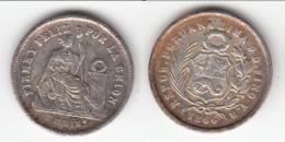 **** PEROU - PERU - UN DINERO 1866 JF LIBERTE ASSISE - ARGENT - SILVER **** EN ACHAT IMMEDIAT !!! - Pérou