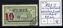 MEMEL (Lithuanian Occ) 1923 (26. Jan) 10 On 2 Mk. On 45 C. With 3.9mm Between 2 And Mark, Used.  Michel 121 II - Klaipeda