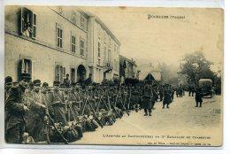 88 DOCELLES Carte RARE Arrivée Au Cantonnement Du 3em Bataillon De Chasseurs Militaire 1907 Num 519 Weick      /D18-2016 - Autres Communes