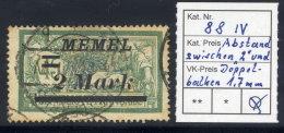MEMEL 1922 (12. Sep.) Overprint 2 Mk. On 45 C. With 1.7mm Between Bars And 4, Used.  Michel 88 IV - Klaipeda