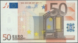 V SPAIN 50 EURO M050 F1  - DRAGHI  UNC - 50 Euro