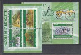 D13 Togo - MNH - Transport - Bicycles - 2010