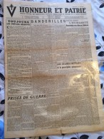 JOURNALHONNEUR ET PATRIE.(organe Des Anciens Combattants De La Guerre D'Algerie)1946 - Revues & Journaux