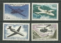 FRANCE MNH ** Poste Aérienne PA 38-40 Prototype Sud Aviation Caravelle Hélicoptère Alouette Morane Saulnier Noratlas