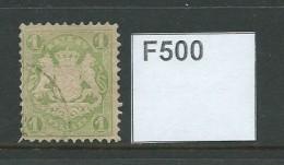 Bavaria 1870 Watermark Intersecting Zig-zag 1k