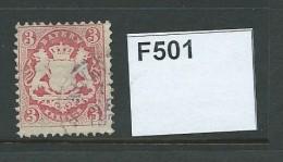 Bavaria 1870 Watermark Intersecting Zig-zag 3k