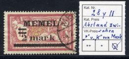 MEMEL 1920 (Sep.) Overprint  2 Mk.. On 1 Fr.  With Wider Space Between R And K Used.   Michel 28 Y II - Klaipeda