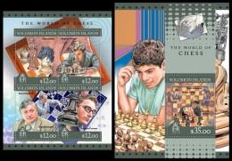 SOLOMON Isl. 2016 - World Of Chess. M/S + S/S - Salomon (Iles 1978-...)