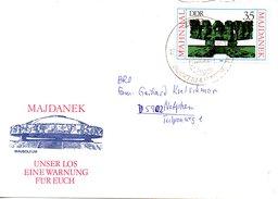 RDA. N°2196 De 1980 Sur Enveloppe Commémorative Ayant Circulé. Mémorial De Majdanek.