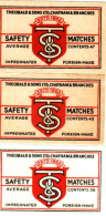 Czechoslovakia 1945-72 Export UK-GB Boites D'allumettes-etiquettes T&S Theobald&Sons 47,43,36 Matches Cat.Nr.1481,1483 - Boites D'allumettes - Etiquettes
