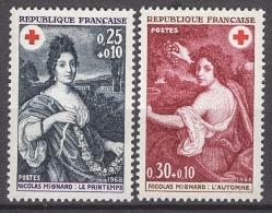FRANCE 1968 -  SERIE Y.T. N° 1580 Et 1581 - 2 TP NEUFS** - Francia