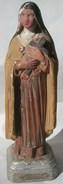 Statuette Votive Statue Sainte Thérèse De Lisieux Plâtre Avec Cache Cachette VIERGE Religion Catholique - Autres