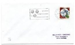 """BB35 - ITALIA 1991  ASSISI , Lettera Con Annullo Targhetta """" ... DALMATI IN ESILIO ... """" - 6. 1946-.. Repubblica"""