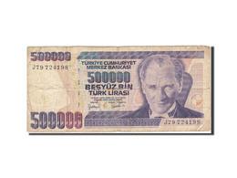 Turquie, 500,000 Lira, 1998-2002, KM:212, 1998, B - Turquie