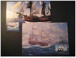 Darling Harbour 1995 ENDEAVOUR Captain COOK Ship Ships Australia Set 2 Maxi Maximum Card - Barche