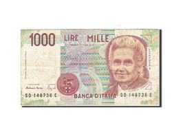 Italie, 1000 Lire, 1990-1994, KM:114b, 1990, TB - 1000 Lire