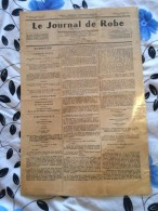 LE JOURNAL DE ROBE-( Journal De La Jurisprudence Des Cours D'appel D'algerie-1962 - Revues & Journaux
