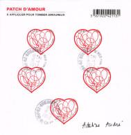 France BF F 4632 Coeur Valentin Adeline André Patch D'amour - Oblitéré 16/01/2012 - 1er Jour Vente Générale - Blocs & Feuillets