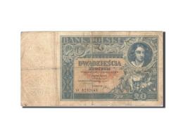 Pologne, 20 Zlotych, 1930-1932, 1931-06-20, KM:73, B+ - Pologne