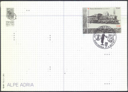 Croatia Alpe-Adria Phila 2011 Exhibition Letter Cover And Pmk Train Stamp Bb161026