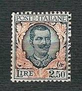 "ITALIA1926 - Effigie Di Re Vittorio Emanuele III, ""Floreale"" Del 1923 - Lire 2,50 - MH - Sassone IT 203 - Nuovi"