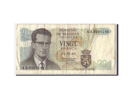 Belgique, 20 Francs, 1964, KM:138, 1964-06-15, TB - [ 6] Treasury