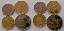ZAMBIA 2012 NUOVA SERIE ANIMALI 4 MONETE  1 KWACHA 50-10-5 NGWEE FDC - Zaire (1971-97)