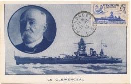 FR-CM3 - FRANCE N° 425 Le Celmenceau Sur Carte Maximum - 1940-49
