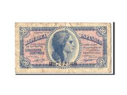 Espagne, 50 Centimos, 1937, KM:93, B - [ 5] Uitgaven Van Het Ministerie Van Financiën