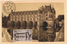 FR-CM5 - FRANCE N° 610 Château De Chenonceaux Sur Carte Maximum - 1940-49