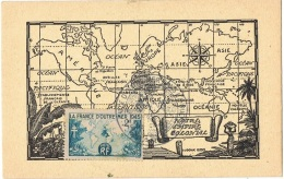 FR-CM6 - FRANCE N° 741 France D'Outre-Mer Sur Carte Maximum - 1940-49