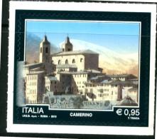 """ITALIA / ITALY 2016** - Turismo - """"Camerino"""" - 1 Val. MNH Autoadesivo Come Da Scansione - 1946-.. République"""